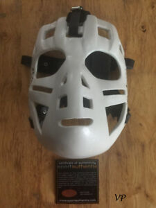GLENN HALL Autographed/Inscribed Chicago Black Hawks Hockey Mask