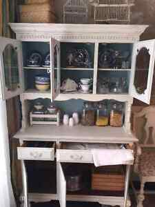 Solid wood old hutch London Ontario image 5