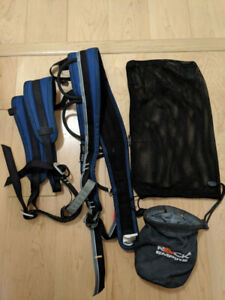 Men's Rock Climbing Harness and Chalk bag