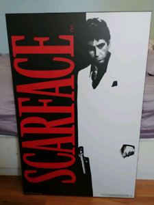 Laminated Scarface poster