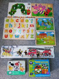 Lots of jigsaw puzzles