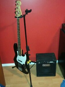 Fender Bass Guitar Plus Amp and Accessories