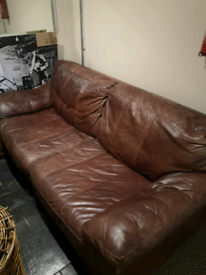 Leather sofa, collection only, Chorlton