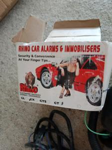 Rhino Car Alarm with remote sort locks and entry.