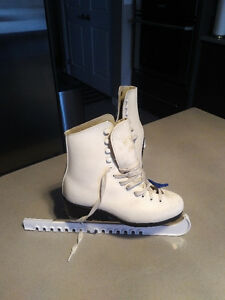 CCM Girls Ice Skates with guards - only $40