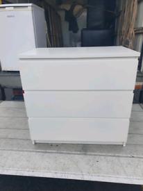 39. White wood chest