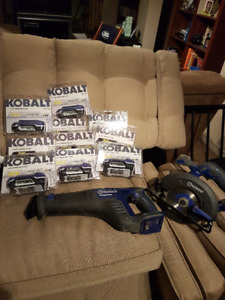 Kobalt cordless circular saw and recipricating saw