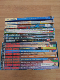 Horrible Histories 10 Book Boxset and 8 additional books