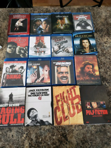 BluRays and DVD movies for sale.