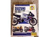 Haynes Manual Suzuki GSXR 600 750 1000 for 2000 - 2002