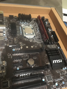 Motherboard,  Ram and CPU combo