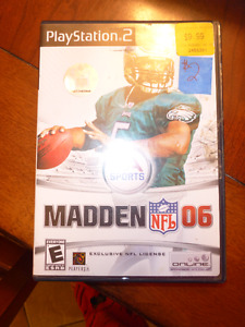 XBOX Fuzio Frenzy and Play Station 2 Madden NFL 06 games