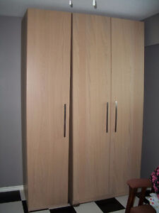 2 like new Ikea Pax Wardrobes