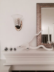 Set of 2 vintage style wall sconces