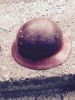 antique miners fiberglass hard hat by paramount rubber