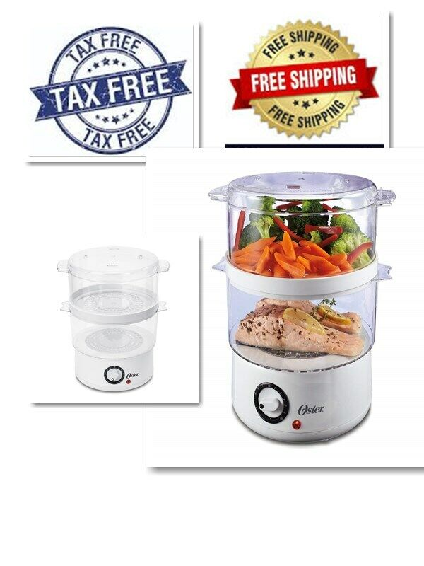 5 Quart Capacity Double Tiered Food Steamer for Food Dishwas