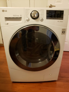 "LG 24"" Washer (WM1388HW) & ventless Dryer (DLEC855W) combination"