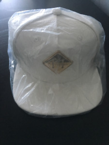 Hater Snapback Gold Metal Lash Logo White Leather