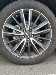 20 inch factory QX60 alloy rims.