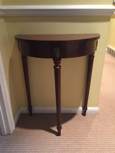 Bombay Console Half Moon Table - Used