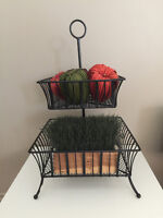 Iron stand about 2 1/2 feet tall- great for plants display etc-