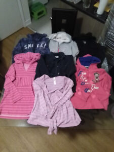 GIRLS SIZE 14 HOODED SWEATERS