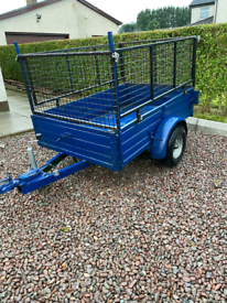 Trailer 6 x 4 with caged sides £475