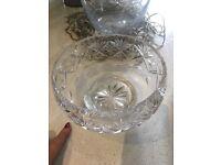 Solid crystal antique fruit bowl