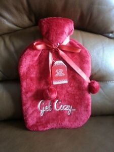 NEW Hot Water Bottle & Soft Pouch