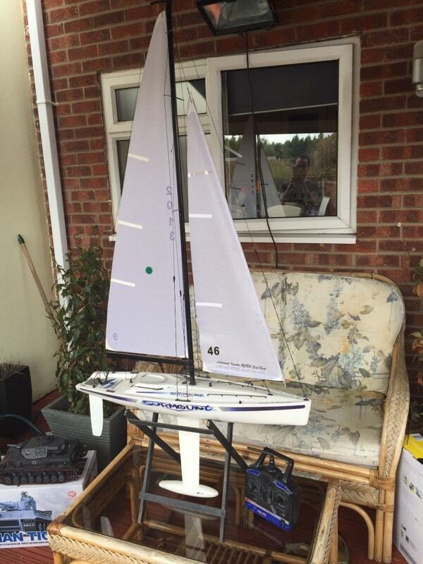 Rc sailing boat.