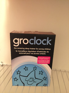 GroClock sleep training clock for toddlers and young children.