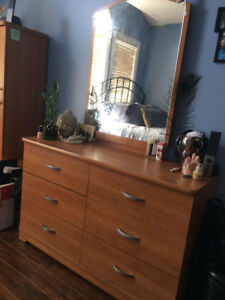 3 PIECE DRESSER SET WITH ARMOIRE AND NIGHT TABLE