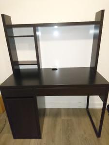 Ikea Micke Desk and Whiteboard shelf - Black/Brown - Used