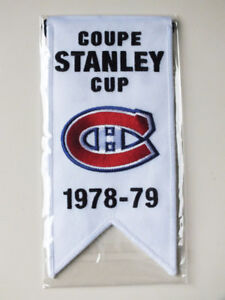 CENTENNIAL STANLEY CUP 1978-79 BANNER MONTREAL CANADIENS HABS