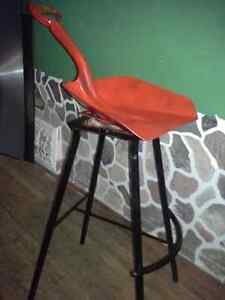 Rare Unique Swiveling Shovel Seat Bar Stool - Dutch Auction Kitchener / Waterloo Kitchener Area image 1