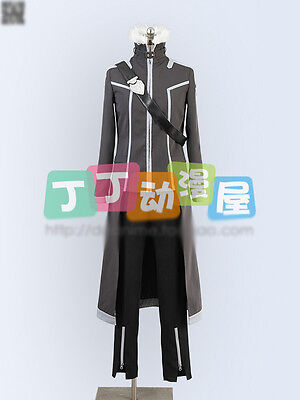 Sword Art Online Kirito Cosplay Costume Grey and Black Fighting Uniforms