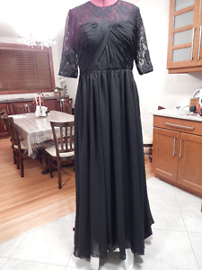 Long black gown for tall woman