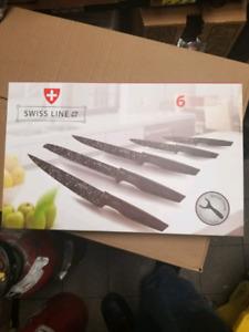 Ensemble de 6 couteaux swiss line