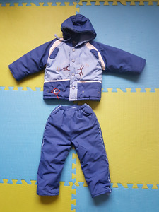Toddler Boy size 2 to 3 winter jacket and snow pants