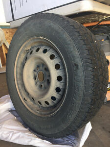 Studded winter tires on rims Edmonton Edmonton Area image 2