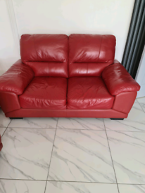 RED 3+2 SEATER SOFA FROM FURNITURE VILLAGE