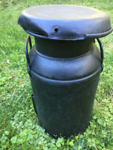 ANTIQUE MILK JUG - PAINTED FLAT BLACK