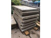 3' x 2' grey used concrete slabs