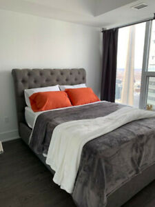 Fully Furnished 1 Bedroom + Den Condo for Lease at 10 York St.