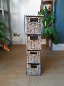Seagrass 4 drawer storage tower