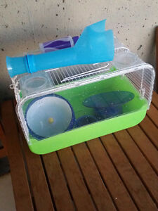 Hamster Cage plus wheels and accessories