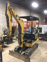 Mini Excavator for rent comes with operator