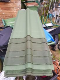 Ridge roof tiles