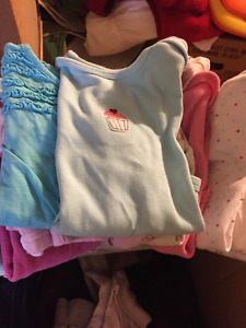 12-18M Baby Girl Clothes & Enfamil Cans