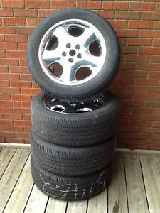 Tires and aluminum rims